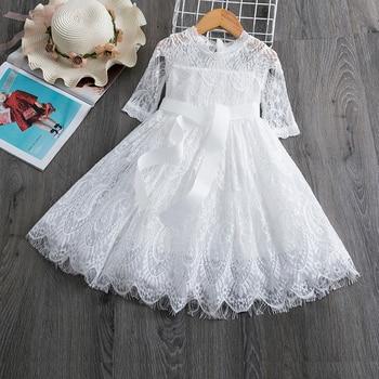 Кружевное платье для девочек с цветочным принтом платье для девочек; Платье принцессы; Детское платье без рукавов вечерние бальное платье, платье с пачкой из сетки для девочек 3 8Ys повседневная одежда платья для девочек Платья      АлиЭкспресс