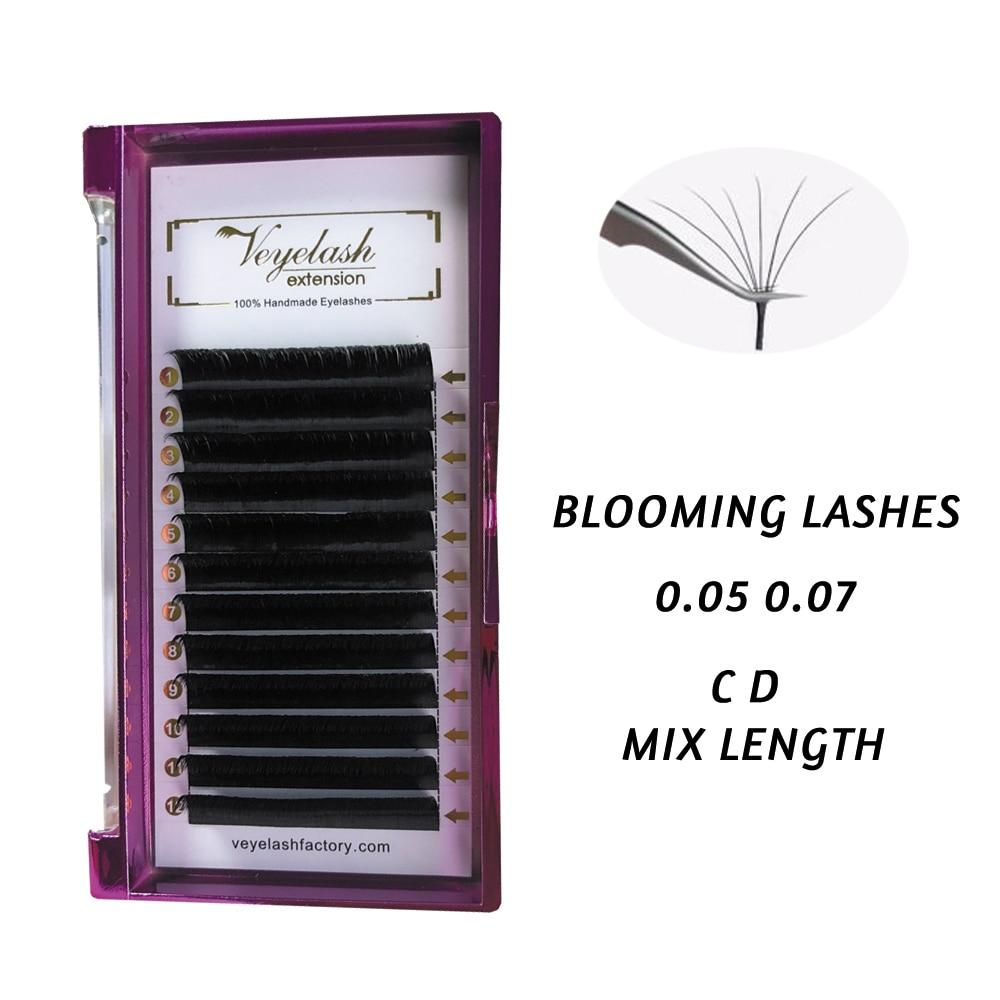 Viplash Easy Fan Volume Lashes  Bloom Individual Eyelash Extension Faux Mink Eyelashes Thick Natural Camellia False Eyelash