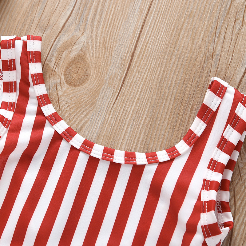 Medium-small Girls New Style Red Stripes Hollow Out Skirt Swimsuit AliExpress