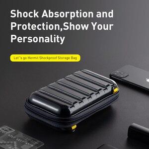 Image 4 - Baseus Shockproof Storage Bag USB 케이블 카드 충전기 휴대 전화 이어폰 가방 PC 방수 주최자 가방 여행 액세서리