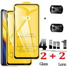 9D Mặt Kính Cường Lực cho Poco X3 Pro Kính Poco X3 Tấm Bảo Vệ Màn Hình Xiaomi Poco X3 Pro Glass Film Poco X3 NFC F3 Poko M3 Pro 5G X3Pro Pocco X 3 Điện Thoại Phim