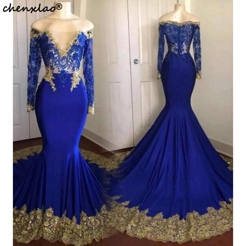 Платье для выпускного вечера с открытыми плечами, вечернее атласное платье, голубое платье с аппликацией, платья для выпускного вечера на з...