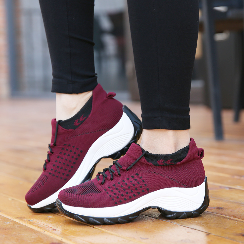 Women Casual Sneakers Tenis Feminino Socks Sneaker Female Sport Shoes Breath Ladies Slip On Shoes Zapato Mujer Plus Size 41 42