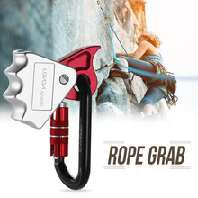 15KN Safety Rope Grab 24KN Quick Lock Outdoor Mountain Rock Climbing Outward Bound Training Protection Lanyard Grab(China)