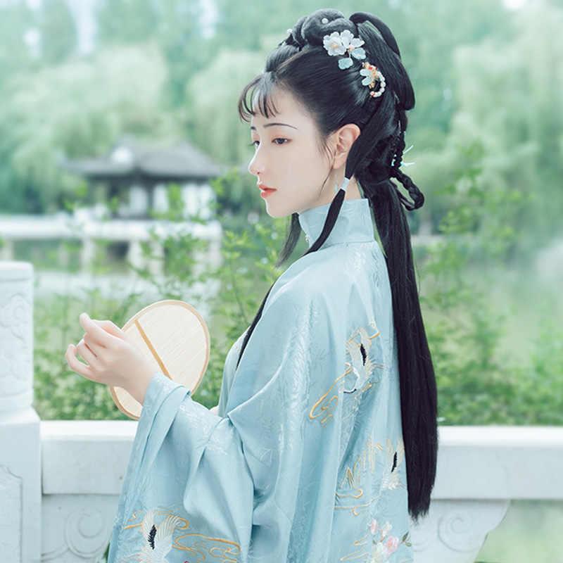 Phụ Nữ Thêu Hanfu Nhà Minh Khiêu Vũ Cổ Điển Trang Phục Phương Đông Lễ Hội Trang Phục Cổ Tích Đầm Rave Hiệu Suất Quần Áo DF1085