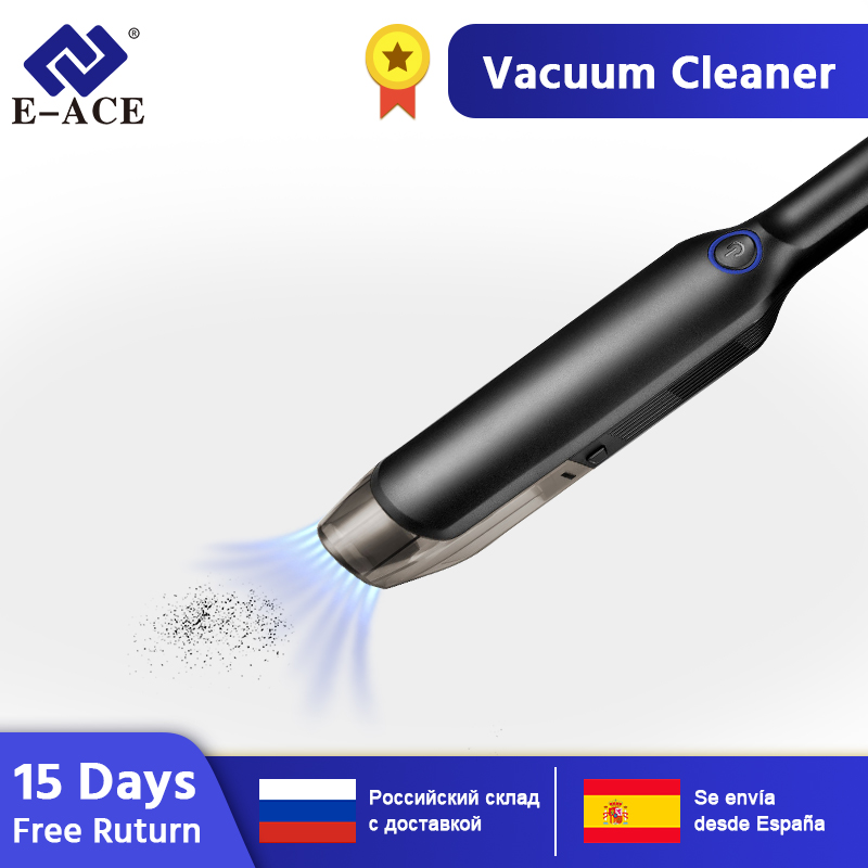 E-ACE M11 Household & Car Vacuum Cleaner Portable Wireless Handheld With 4000Pa 5000Pa For Car & SUV & House & Computer Cleaning