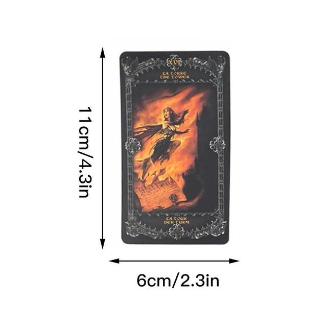 78 قطعة لوح ظهر المركب ألعاب بطاقات التارو الخيال القوطية أوراكل التارو بطاقة ل الخيمياء 1977 إنجلترا بطاقات للعب لعبة الترفيه