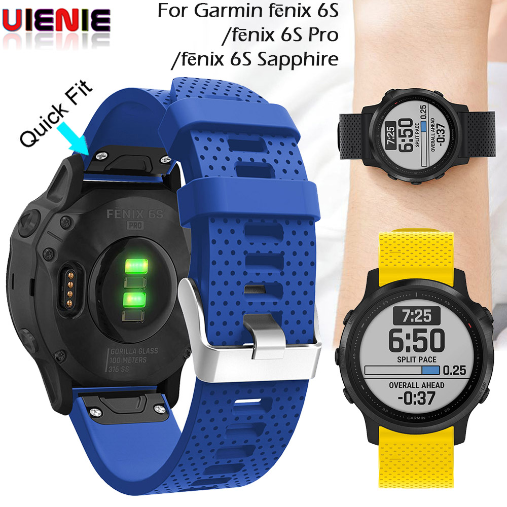20mm Quick Release Silicone Wrist Band Watchband Strap for Garmin Fenix 5S New