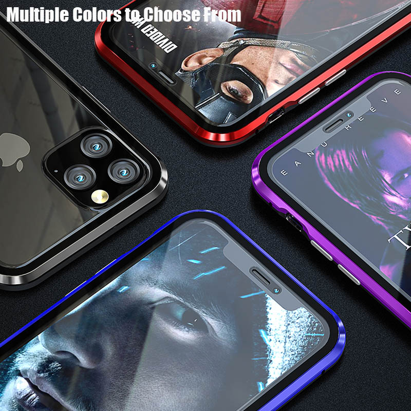 Double Sided Glass Magnetic Adsorption Phone Case For iPhone 11 Pro X XS MAX XR and iPhone 6 6s 8 7 Plus 1