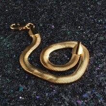 Golden Snake Armband Voor Mannen Vrouwen Gouden Ketting Rvs Heren Armbanden Groothandel Sieraden