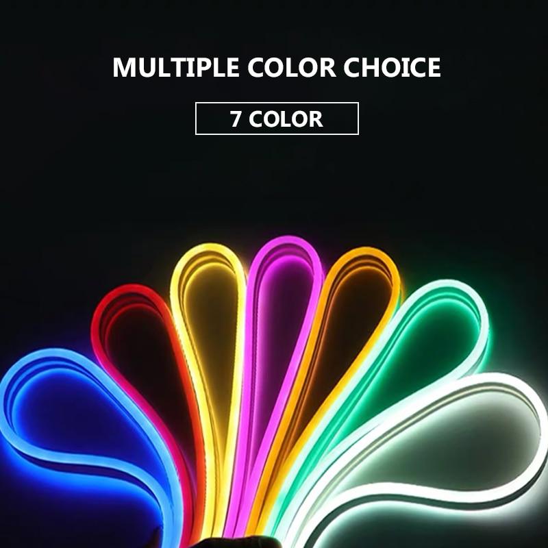 12 В 6 мм неосветильник 120 светодисветодиодный s/M светодиодная полоса SMD2835 IP67 водонепроницаемая гибкая светодиодная световая полоса для «сде...