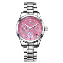 F Horloges Vrouwen Fashion Women's Mechanical Wristwatches 3bar Waterproof Automatic Calendar Hollow Dress Gift for Lady Unique