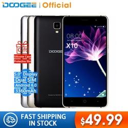 W magazynie teraz DOOGEE X10s telefonów komórkowych 5.0 Cal IPS 8 GB Android6.0 inteligentny telefon Dual SIM MTK6580 5.0MP 3360 mAH WCDMA telefon GSM w Telefony Komórkowe od Telefony komórkowe i telekomunikacja na