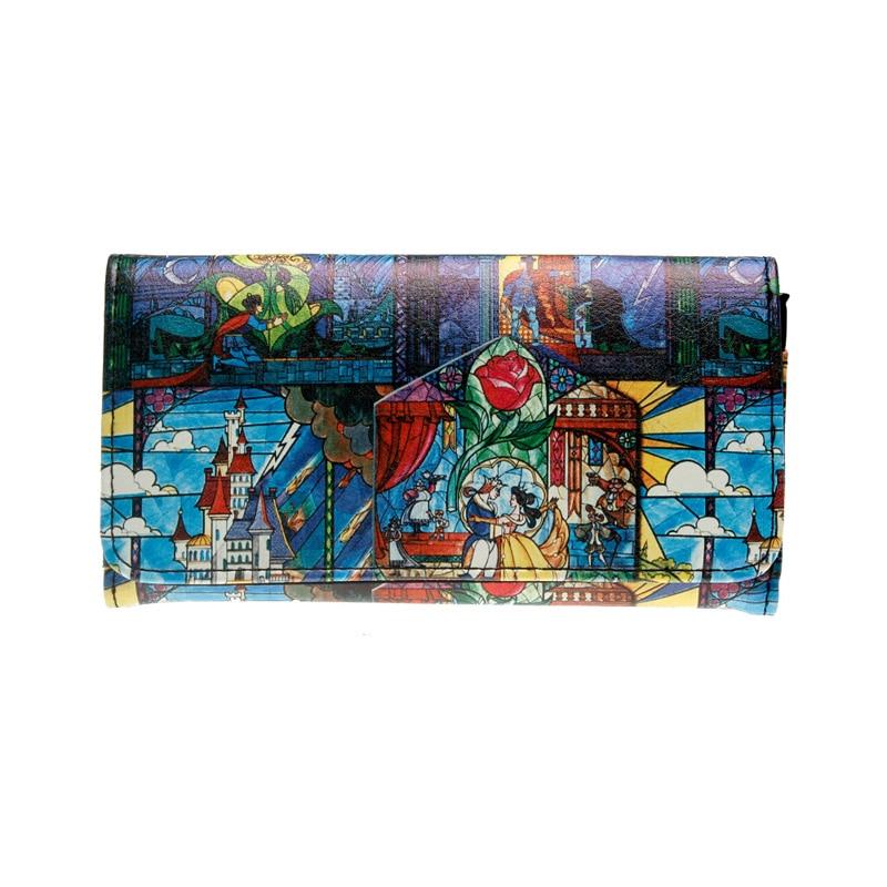 Beauty Beast Clutch Wallet Printing Wallet  Female Purse Lady Purses Women Card Holder DFT1975