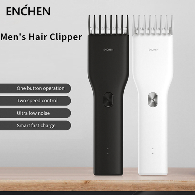 Original Xiaomi ENCHEN Boost USB Electric Hair Clipper Fast Charging Hair Trimmer Adult Children Hair Clipper  Two Speed Cutter