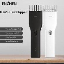 Xiaomi ENCHEN Boost ماكينة قص الشعر الكهربائية للبالغين والأطفال ، ماكينة قص الشعر مع USB وشحن سريع ، سرعتان