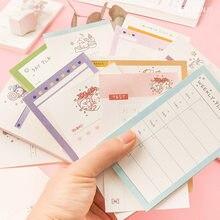Mohamm-50 unidades/lote, bonito conejo para hacer, planificador diario, Memo de cuaderno, suministros escolares, papel, papelería de oficina, accesorios