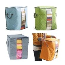 Włóknina przenośna torba do przechowywania ubrań składana pralnia torba na kołdrę odzież zabawki pudełko koc organizator szafa ubrania dzielnik tanie tanio CN (pochodzenie) Salon Ekologiczne Zaopatrzony Tkaniny Włókniny tkaniny Trójwymiarowy typu SQUARE Podróży 45*50*30cm