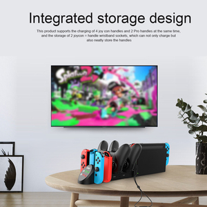 Image 5 - iPega PG 9187 6 in 1 Charging Dock Stand Station Holder Fit for Nintendo Switch Joy Con Pro Game Console Controller Charger