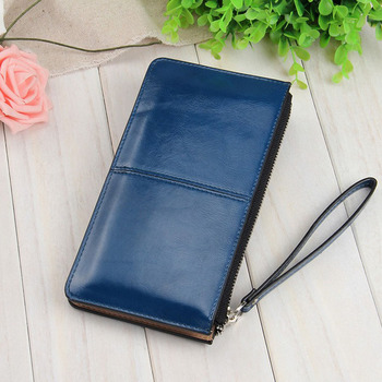 Fashion Capacious Leather Women's Wallet Bags and Wallets Hot Promotions New Arrivals Women's Wallets Color: Dark Blue