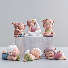 Creative lovely cute Doll Ornaments Arts and Crafts Kawai fairy garden miniatures figurines Birthday Gifts home