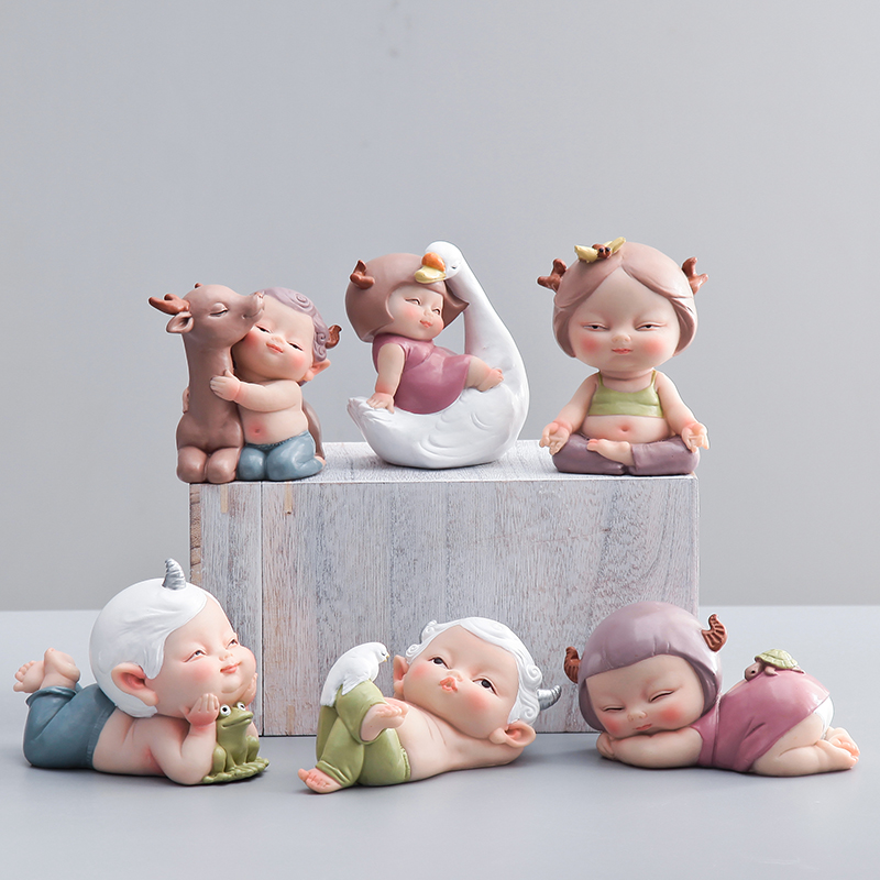 Creative lovely cute Doll Ornaments Arts and Crafts font b Kawai b font fairy garden miniatures