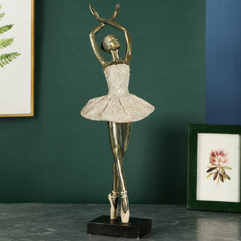 Ballet Miniatures Figurines Abstract Art  Dancer Girl Ornament Statue Ballerina Resin Sculpture Model Home Office Decor Craft