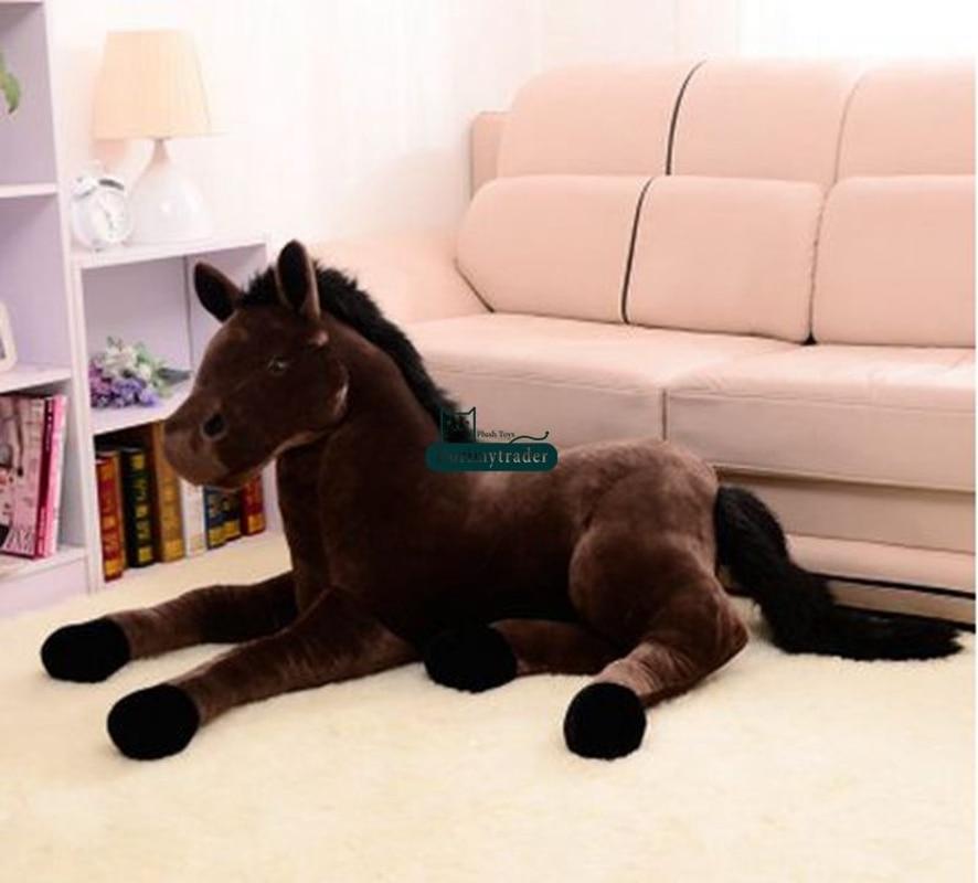 130cm x 60cm gigante macio cavalo pelúcia emulational animais de pelúcia brinquedos boneca presente bonito brinquedos de pelúcia ponto - 6