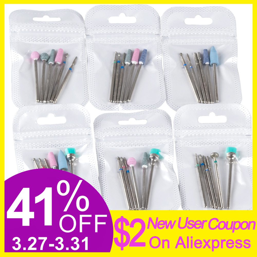 Milling Cutter For Manicure Quartz Nail Art Drill Bits Mill Cutters For Removing Nail Gel Polish Varnish Manicure Machine Tools