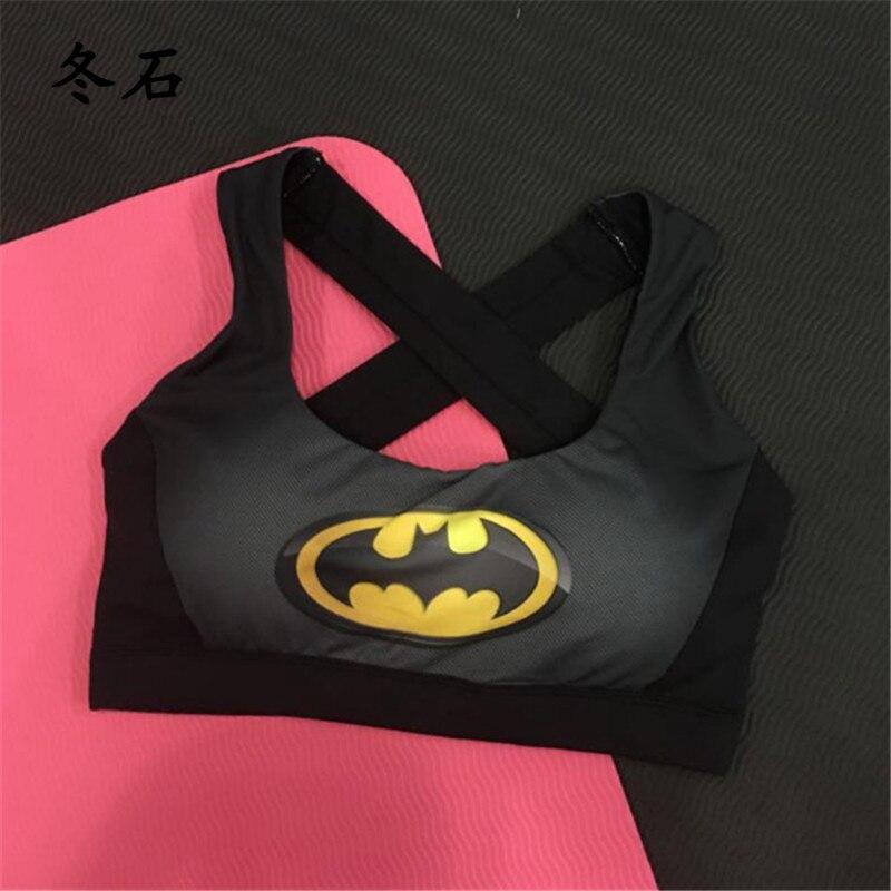 3D Print Captain America Superman Batman Women Sports Bra Fitness Yoga Bras Tops Underwear Sport Bra Running Sujetador Deportivo