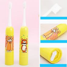 Electric Toothbrush Children Cartoon Automatic Soft-bristled Waterproof Oral Hygiene Teeth Whitening Clean Battery Power Brush цена и фото