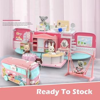 Koala Toy Forest Animal Set DIY Toy Furniture Bedroom Set Halloween Toys Family Model Play House Doll Set for Girl Kids Toys
