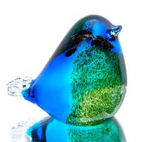 H & D szkło ptak ręcznie dmuchane szkło figurka zwierzątko boże narodzenie urodziny prezent kolekcja Showpiece rzeźba dla Home Office w Figurki i miniatury od Dom i ogród na