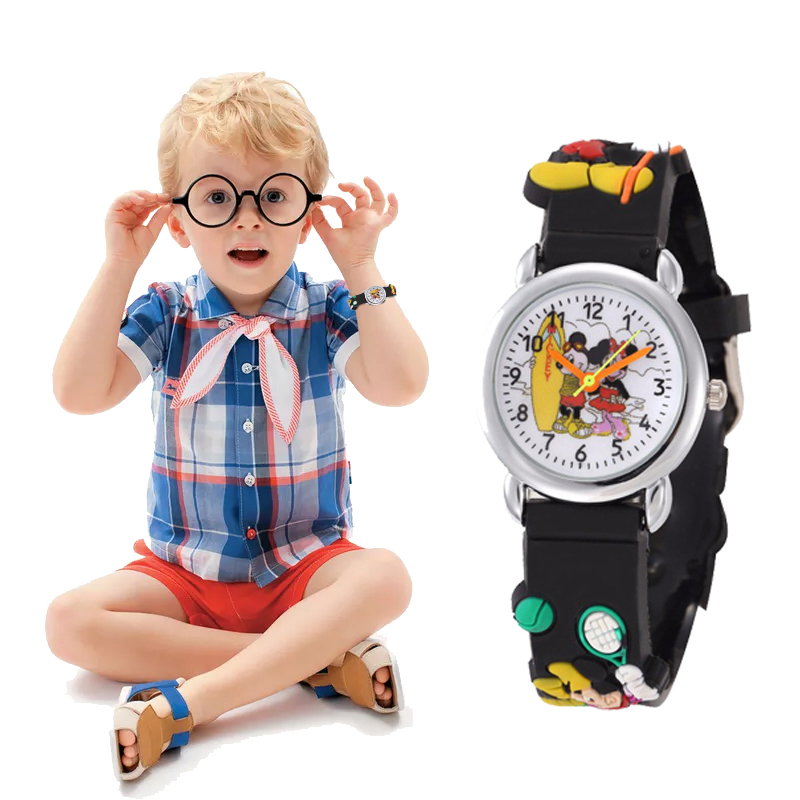Kids Watch Baby Cartoon Fashion Silicone Mickey Mouse Children Girls Boys Students Quartz Wristwatches Relogio Clock Reloj