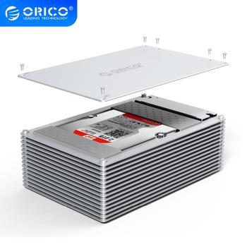 ORICO алюминиевый сплав Type-C DIY полый корпус для жесткого диска 2,5/3,5 дюйма корпус для жесткого диска 12 в источник питания ЕС поддержка емкости 20 ...