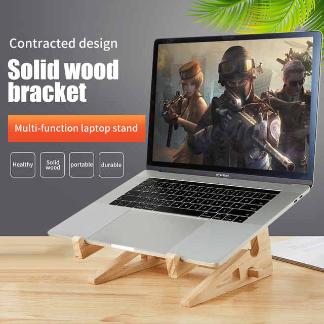 Wood soporte para portatil Increased Height foldable laptop stand Adjustable Angle heights for macbook accessories Heat-Reductio