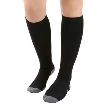 Comperssion Stockings Exercise The Over Knee Socks Anti-Fatigue Knee High Stockings Compression Support Socks for Outdoor Sports цена 2017