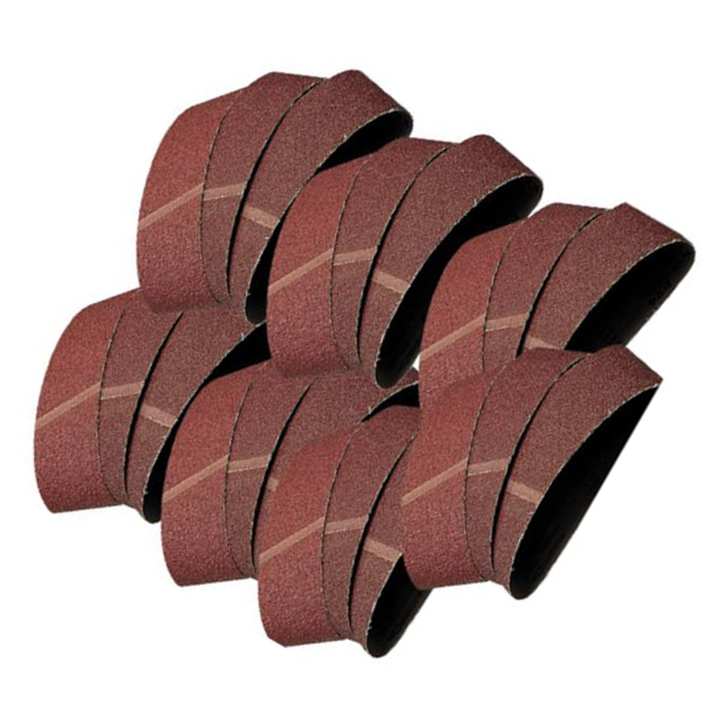 20x 60/80/100/120 Grit Sanding Belts Brown Corundum 457x75mm Abrasive Tool Set