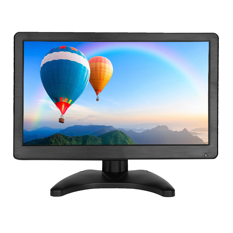 12 Inch Portable HDMI Monitor TFT LCD Screen with AV HDMI BNC VGA Input 1366x768 Mini HD Color Display with Built-in Speaker