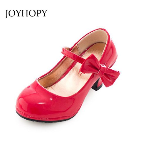 Girls Leather Shoes Autumn Bowtie Sandals 2019 New Children Shoes High Heels Princess Sweet Sandals For Girls Lahore