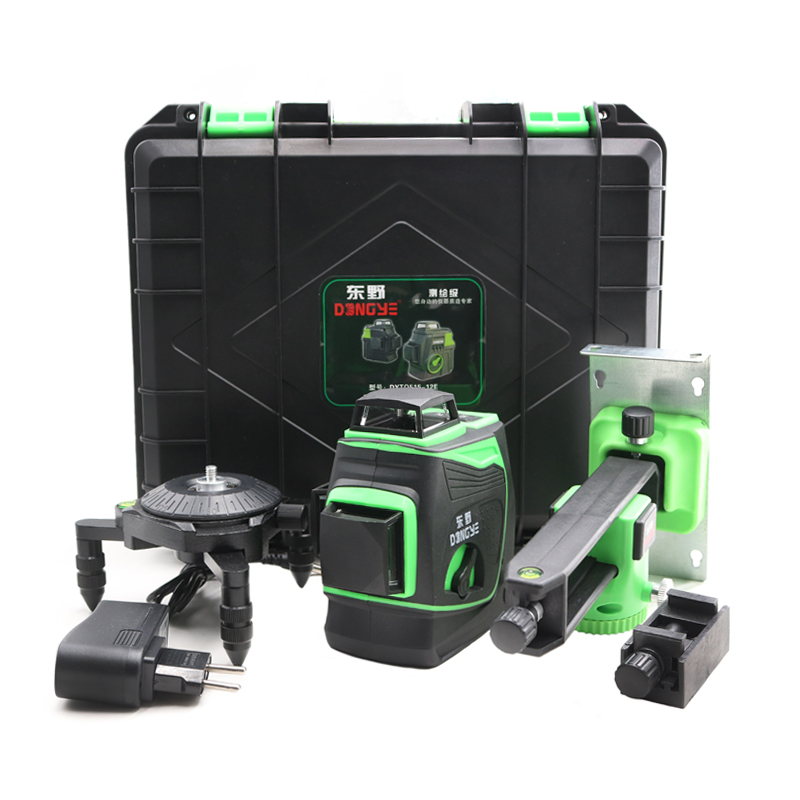 2020 New Professional <font><b>12</b></font> Line <font><b>3D</b></font> laser level Japan Sharp green 515NM Beam 360 Vertical And Horizontal Self-leveling Cross image