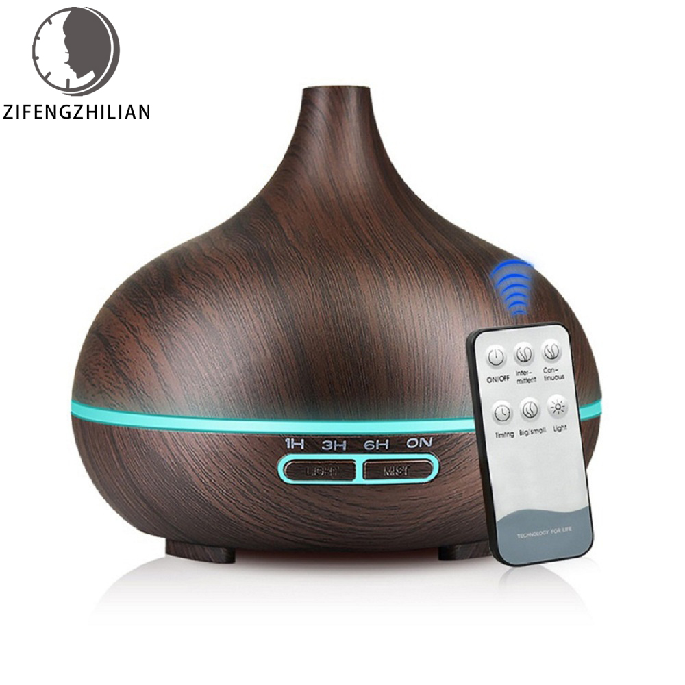 500ml Air Humidifier Aroma Diffuser Remote Control 7 Changing Colors LED Lights Cool Mist Maker Home Air Purifier