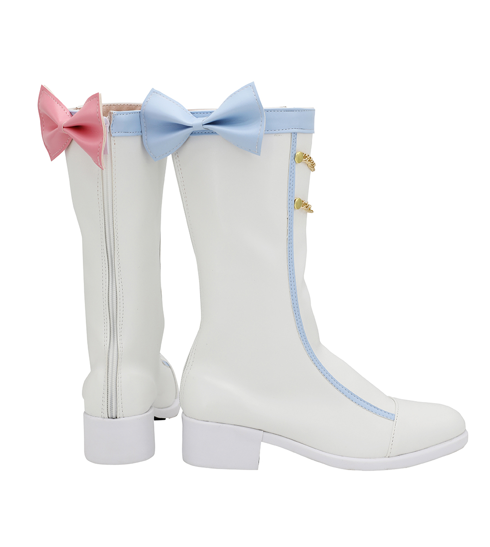 Image 2 - Vocaloid Snow Miku 2020 Cosplay Boots White Shoes Custom Made Any  Size for Halloween Party Cosplay AccessoriesShoes