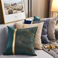 Gold Stamping Patchwork Cushion Covers Navy Blue Yellow Gray Throw Pillow Cases for Living Room Bedroom Sofa Car