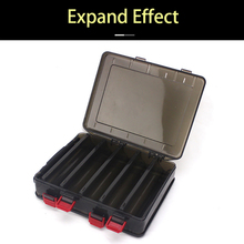 Double side 10 Compartments Fishing lure box Multifunctional Box Hooks Spoons Storage Boxes Lure Tackle