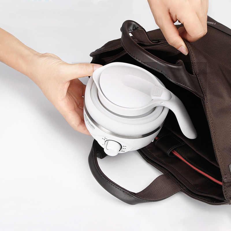旅行ケトルポータブルウォータージャグ茶コーヒー製造装置ゆで魔法瓶折りたたみ電気ケトル食品グレードシリコーンカップ