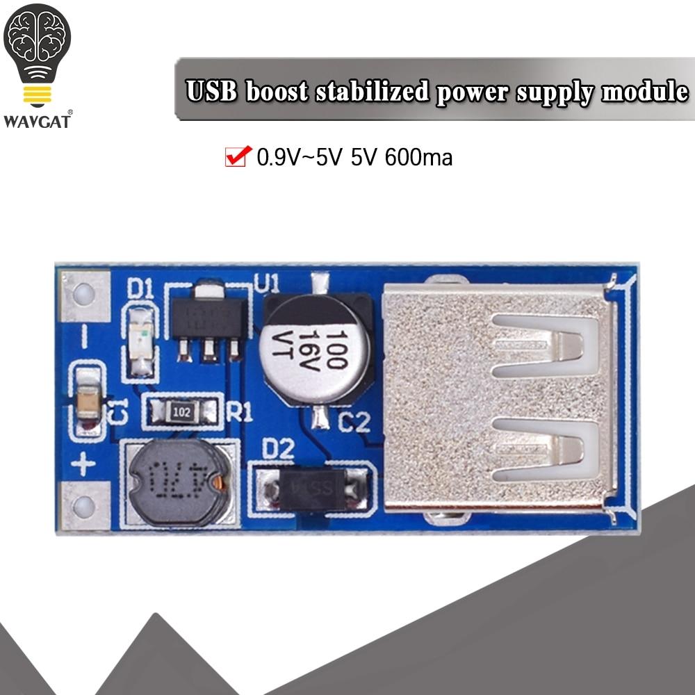Плата для увеличения мощности мобильного USB-зарядного устройства WAVGAT, 0,9 В ~ 5 В до 5 В, мА, USB-плата для увеличения мощности мобильного телефона