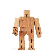Decompression-Toys Cube Log-Robot Cultivation Wooden Parent-Child-Interaction Children's