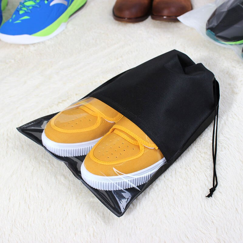 Waterproof Shoes Bag Pouch Travel Storage Bags Portable Tote Drawstring Bag Cover Non-Woven Laundry Organizer Fabric