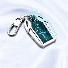 Novo tpu macio capa completa do carro totalmente chave caso escudo para bmw série 7 740 6 gt série 5 530i x3 chave de exibição remoto protetor